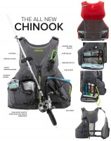 NRS CHINOOK NEW Charcoal Fishing Angler PDF Rettungsweste